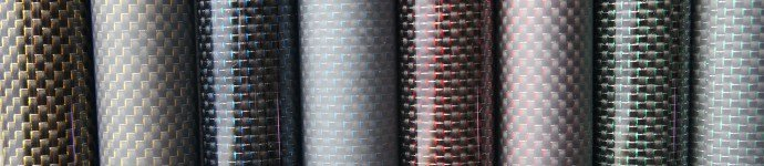 Carbon tubes with color thread