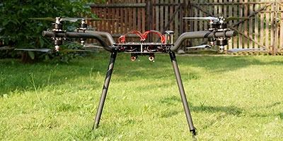 X8 large multirotor with bent tube arms