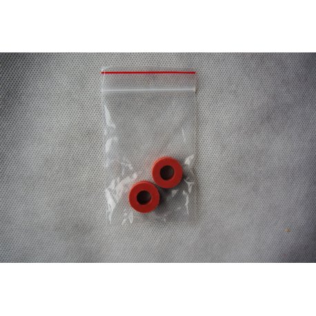 Red antivibration rubbers for 12 mm tubes