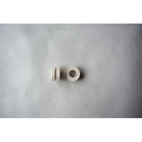 White antivibration rubbers for 12 mm tubes