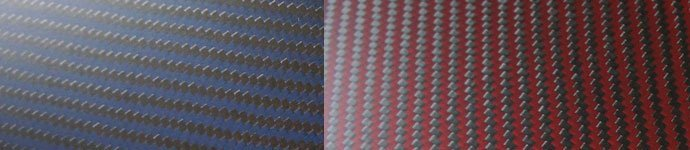Color carbon fibre sheets