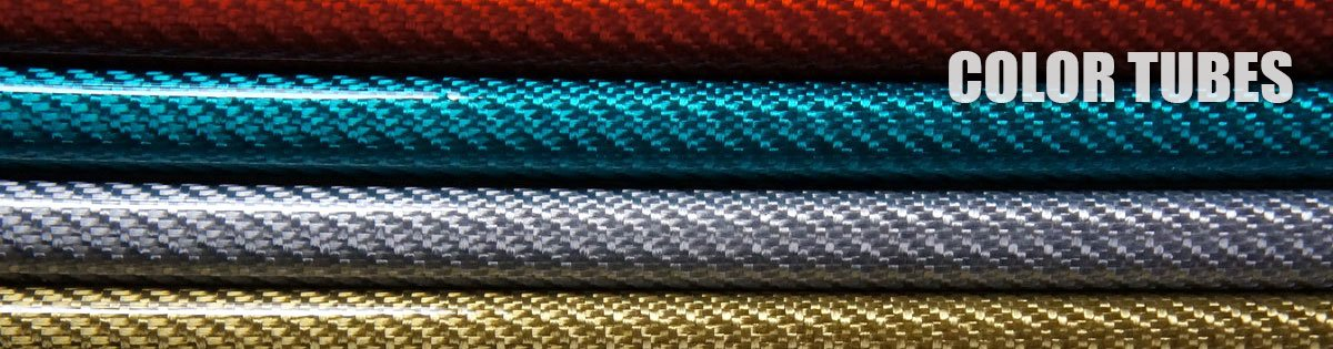 Color carbon fibre tubes